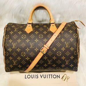 Authentic Louis Vuitton Speedy 35 #9.8R
